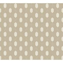 Architects Paper Vliestapete Absolutely Chic Tapete geometrisch grafisch metallic grau beige 369737 10,05 m x 0,53 m