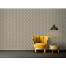 Architects Paper Vliestapete Absolutely Chic Tapete geometrisch grafisch metallic grau beige 10,05 m x 0,53 m