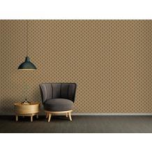 Architects Paper Vliestapete Absolutely Chic Tapete geometrisch grafisch metallic schwarz braun 10,05 m x 0,53 m