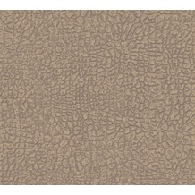 Architects Paper Vliestapete Absolutely Chic Tapete mit Animal Print metallic braun grau 369701 10,05 m x 0,53 m