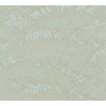Architects Paper Vliestapete Absolutely Chic Tapete mit Blumen floral metallic blau grün 369722 10,05 m x 0,53 m