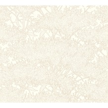 Architects Paper Vliestapete Absolutely Chic Tapete mit Blumen floral metallic creme weiß 369727 10,05 m x 0,53 m