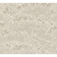 Architects Paper Vliestapete Absolutely Chic Tapete mit Blumen floral metallic grau beige 369724