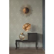 Architects Paper Vliestapete Absolutely Chic Tapete mit Pfauen Feder beige grau metallic 10,05 m x 0,53 m