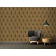 Architects Paper Vliestapete Absolutely Chic Tapete mit Pfauen Feder metallic braun schwarz 10,05 m x 0,53 m