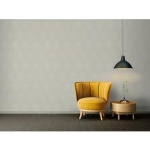 Architects Paper Vliestapete Absolutely Chic Tapete mit Pfauen Feder metallic grau beige 10,05 m x 0,53 m