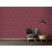 Architects Paper Vliestapete Absolutely Chic Tapete mit Pfauen Feder metallic rot lila 10,05 m x 0,53 m