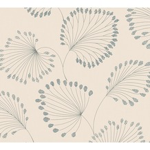 Architects Paper Vliestapete Alpha Tapete floral beige blau metallic 333713 10,05 m x 0,53 m