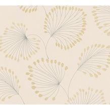 Architects Paper Vliestapete Alpha Tapete floral beige metallic 333712 10,05 m x 0,53 m