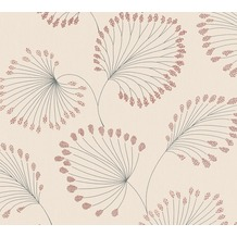 Architects Paper Vliestapete Alpha Tapete floral beige metallic rot 333714 10,05 m x 0,53 m