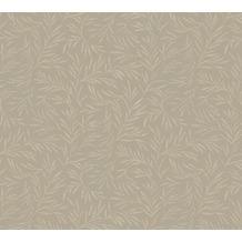 Architects Paper Vliestapete Alpha Tapete floral braun grau metallic 333263 10,05 m x 0,53 m
