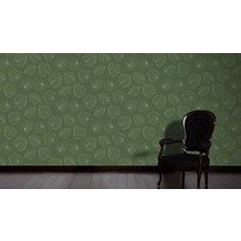 Architects Paper Vliestapete Alpha Tapete floral grün metallic 10,05 m x 0,53 m