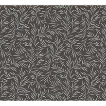 Architects Paper Vliestapete Alpha Tapete floral metallic schwarz 333265 10,05 m x 0,53 m