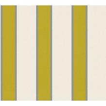 Architects Paper Vliestapete Alpha Tapete gestreift beige grün metallic 333292 10,05 m x 0,53 m