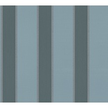 Architects Paper Vliestapete Alpha Tapete gestreift blau metallic 333293 10,05 m x 0,53 m