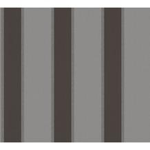 Architects Paper Vliestapete Alpha Tapete gestreift grau metallic schwarz 333294 10,05 m x 0,53 m