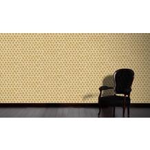Architects Paper Vliestapete Alpha Tapete grafisch beige metallic 10,05 m x 0,53 m