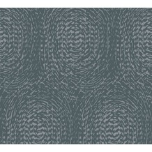 Architects Paper Vliestapete Alpha Tapete mit grafischen Kreisen blau metallic 333731 10,05 m x 0,53 m