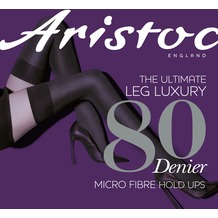 Aristoc Leg Luxury 80D Opaque Hold Ups Black ML