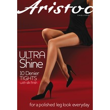 Aristoc Ultra 10D Ultra Shine Tights Vaguely Black XL