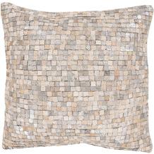 Arte Espina Kissen Finish Pillow 100 Weiß / Silber 45 x 45 cm