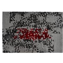 Arte Espina Teppich Broadway 700 Grau / Rot 120 x 170 cm