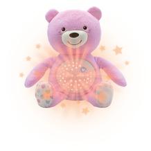 chicco Baby Bär rosa mit Lichtprojektoren