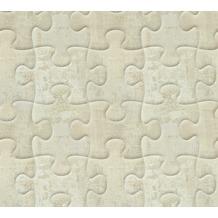 AS Création 3D Mustertapete Simply Decor Tapete beige grau metallic 10,05 m x 0,53 m