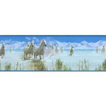 AS Création selbstklebende Bordüre Only Borders 9 blau grün weiß 5,00 m x 0,17 m