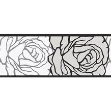 AS Création selbstklebende Bordüre Only Borders 9 grau schwarz weiß 905024 5,00 m x 0,05 m