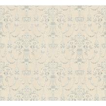 AS Création barocke Mustertapete April Vliestapete creme grau metallic 10,05 m x 1,06 m
