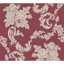 AS Création barocke Mustertapete Belle Epoque Strukturprofiltapete beige metallic rot 338674 10,05 m x 0,53 m