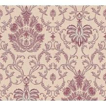 AS Création barocke Mustertapete Belle Epoque Strukturprofiltapete beige metallic rot 10,05 m x 0,53 m