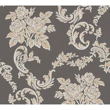 AS Création barocke Mustertapete Belle Epoque Strukturprofiltapete beige metallic schwarz 10,05 m x 0,53 m