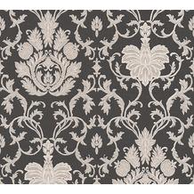 AS Création barocke Mustertapete Belle Epoque Strukturprofiltapete beige schwarz 339058 10,05 m x 0,53 m