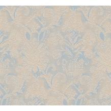 AS Création barocke Mustertapete Belle Epoque Strukturprofiltapete blau braun metallic 10,05 m x 0,53 m