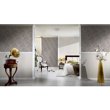 AS Création barocke Mustertapete Belle Epoque Strukturprofiltapete braun grau metallic 10,05 m x 0,53 m