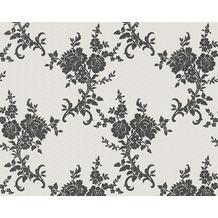 AS Création barocke Mustertapete Belle Epoque Strukturprofiltapete metallic schwarz weiß 110220 10,05 m x 0,53 m