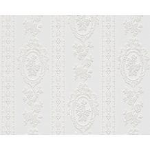 AS Création barocke Mustertapete Belle Epoque Strukturprofiltapete weiß 186140 10,05 m x 0,53 m