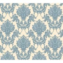AS Création barocke Mustertapete Château 5 Vliestapete beige blau metallic 344926 10,05 m x 0,53 m