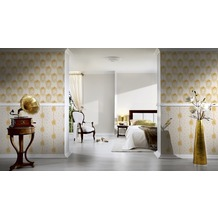 AS Création barocke Mustertapete Château 5 Vliestapete beige creme metallic 10,05 m x 0,53 m