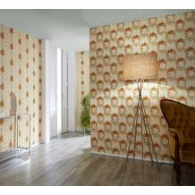 AS Création barocke Mustertapete Château 5 Vliestapete beige grün rot 10,05 m x 0,53 m