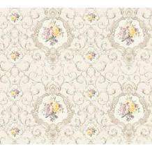 AS Création barocke Mustertapete Château 5 Vliestapete bunt creme grau 343912 10,05 m x 0,53 m