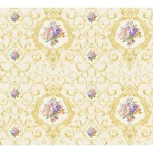 AS Création barocke Mustertapete Château 5 Vliestapete bunt creme metallic 343911 10,05 m x 0,53 m