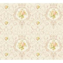 AS Création barocke Mustertapete Château 5 Vliestapete bunt creme metallic 343914 10,05 m x 0,53 m