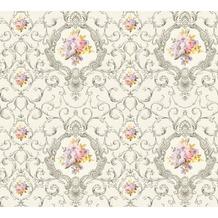 AS Création barocke Mustertapete Château 5 Vliestapete bunt grau metallic 343913 10,05 m x 0,53 m