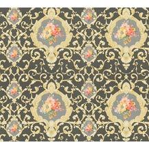 AS Création barocke Mustertapete Château 5 Vliestapete bunt metallic schwarz 343916 10,05 m x 0,53 m