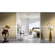 AS Création barocke Mustertapete Château 5 Vliestapete creme gelb metallic 10,05 m x 0,53 m