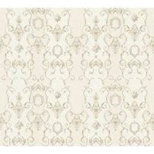 AS Création barocke Mustertapete Château 5 Vliestapete creme grau metallic 343922 10,05 m x 0,53 m