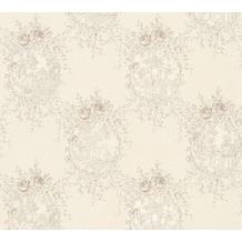 AS Création barocke Mustertapete Château 5 Vliestapete grau metallic 344995 10,05 m x 0,53 m